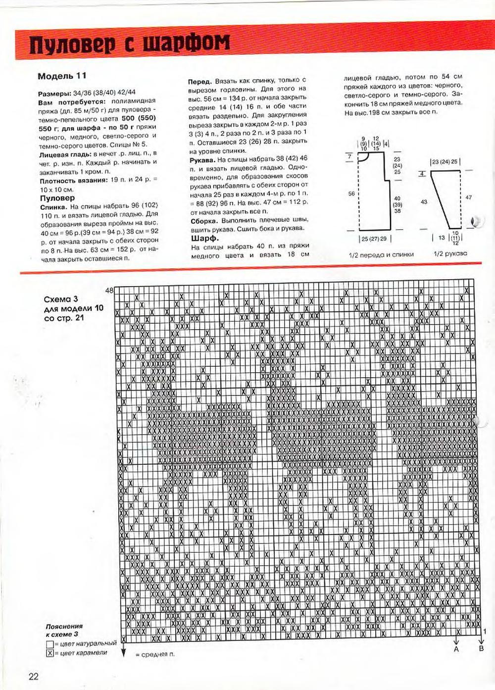 Мужской свитер красный с оленями схема с описанием