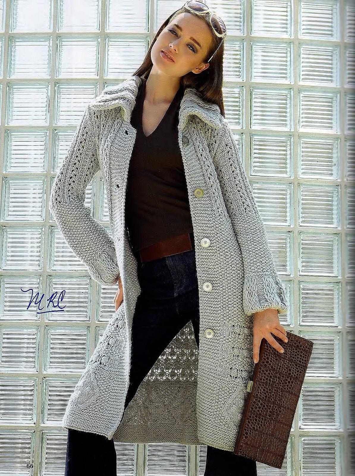 описание вязания и схемы пальто для весны для девочек спицами