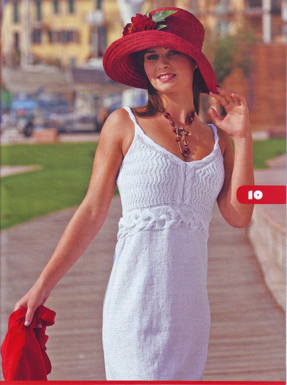 Вязание спицами летние платья и сарафаны 69