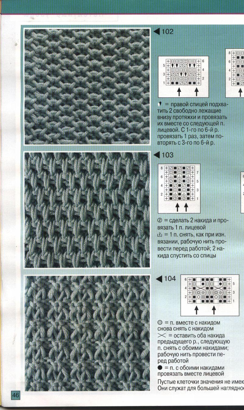 Вязание на спицах образцов и схем