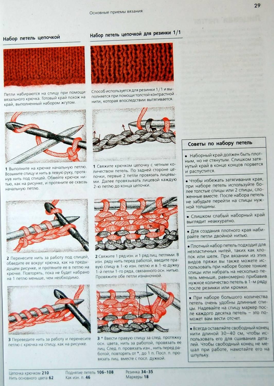 Первый ряд в вязании спицами 628