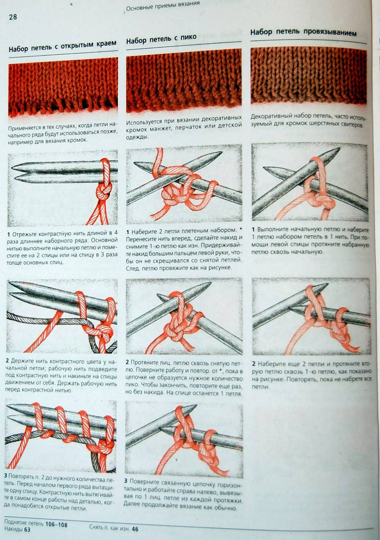 Первый ряд в вязании спицами 670